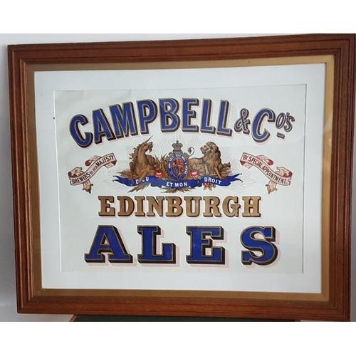 152 - <em>'Campbell & Co. Original Ales</em>' Framed Advertising Sign - 33.5 x 27ins...