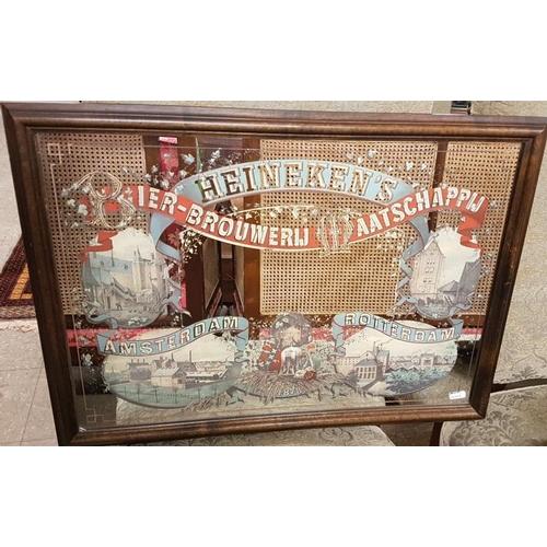 153 - Framed original Dutch Heineken Advertising Mirror - 25