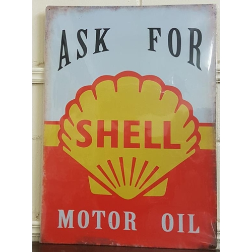 156 - <em>'Shell'</em> Cardboard Sign - c. 19.5 x 27.5ins...