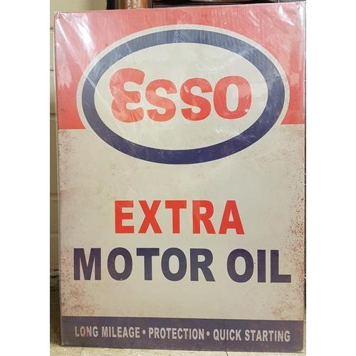 157 - <em>'Esso'</em> Cardboard Sign - c. 19.5 x 27.5ins...