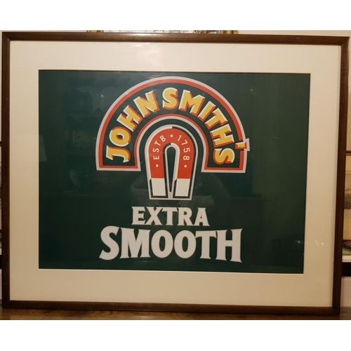 158 - <em>John Smith Extra Smooth</em> Framed Advertisement - c. 39 × 31ins...