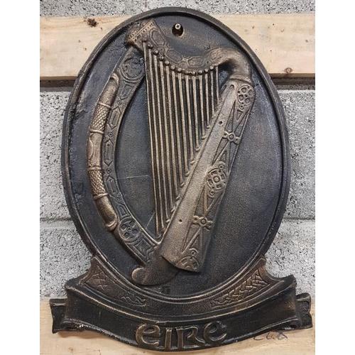 160 - <em>'Eire'</em> Harp Wall Plaque - c. 16 x 20.5ins...