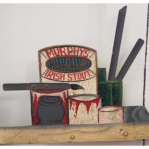 161 - <em>'Irish Murphy's Stout'</em> Steel Hanging Sign - c. 54.5 x 47.5ins...