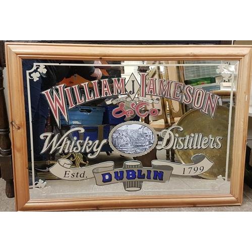 162 - Reproduction Framed <em>'William J. Jameson & Co., Whisky Distillers</em>' Advertising Mirror ' ...