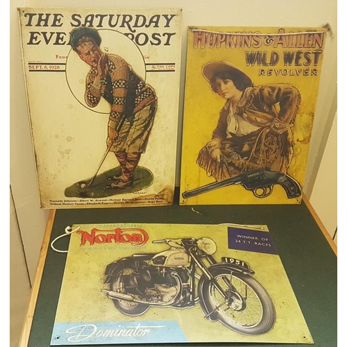 164 - Five Reproduction Advertising Signs...