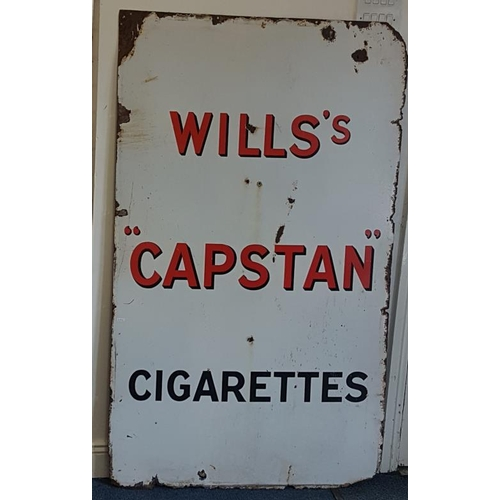 167 - <em>'Will's Capstan Cigarettes'</em> Enamel Advertising Sign - c. 36 x 60ins...