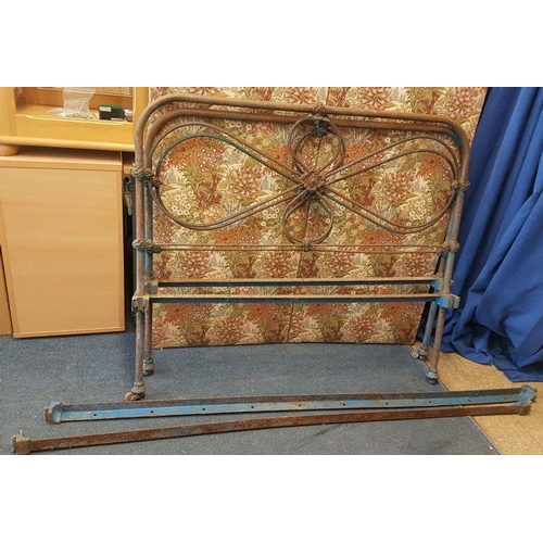 169 - 4ft Iron Bed Frame with Side Irons...