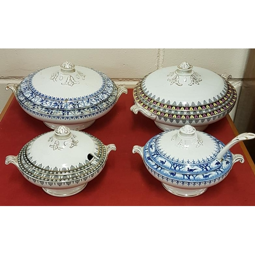 289 - Four Edwardian Tureens with attractive borders...