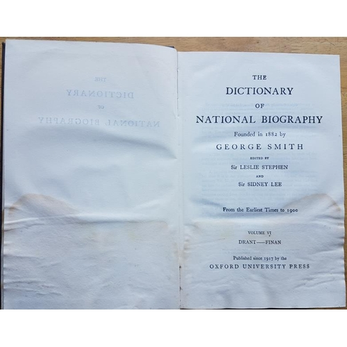 73a - <em>The Dictionary of National Biography.</em> 25 volumes plus supplements. A veritable mine of info...