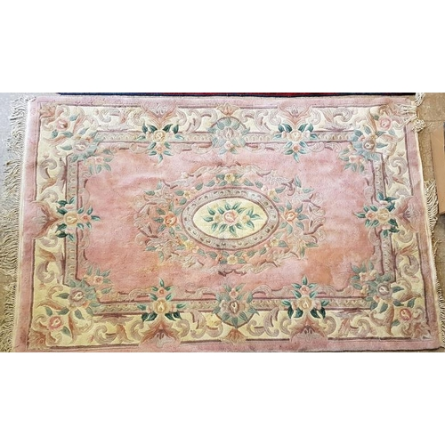 4 - Pink Patterned Floor Rug - 5ft x 8ft...