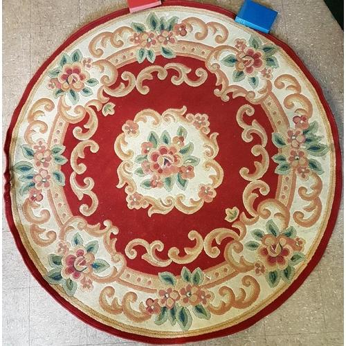 8 - Circular Patterned Rug/Carpet - c. 6ft Diameter...