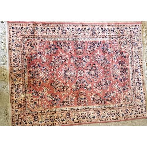 14 - Large Deep Pile Figure Carpet - 47 x 64ins...