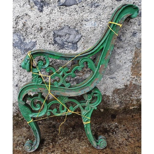 19 - Pair of Garden Seat Ends - c. 26ins wide, 30ins tall...