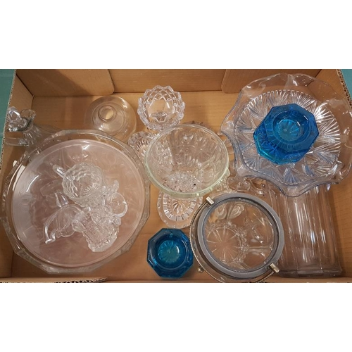 24 - Quantity of Old Pressed Glass including a Chippendale Bowl...