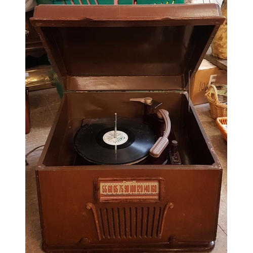 25 - Sonora Electric Radio Phonograph (made in Chicago, 1947)...