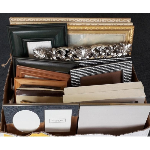 29 - Box of Frames and Photos to include Addison Ross folding frame....