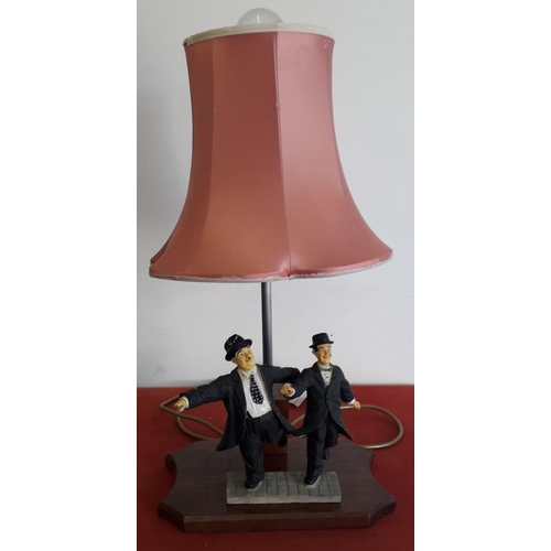 36 - Laurel & Hardy Figural Table Lamp - c. 20ins tall...