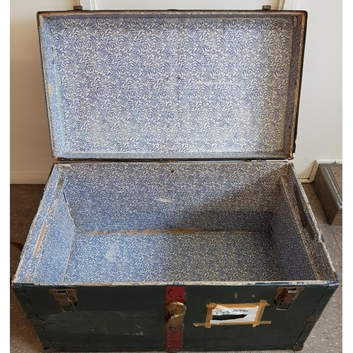 47 - Large Old Steamer Trunk - 34 x 20 x 21ins...