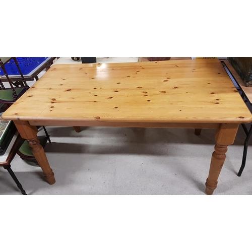 49 - Modern Pine Kitchen Table - 60 x 36 x 30.5ins tall...