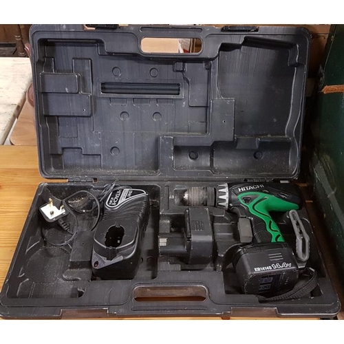 51 - Hitachi Cordless Drill with Two Batteries...