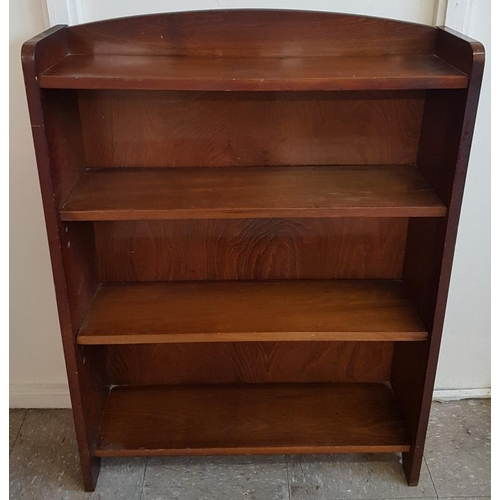 64 - Set of Walnut Open Bookcase - 27 x 7 x 37ins...
