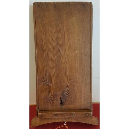67 - Victorian Oak Wash Board - 21ins tall...