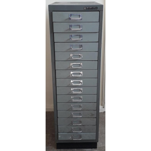 84 - 15-Drawer Filing Cabinet - 11ins wide x 37ins tall...
