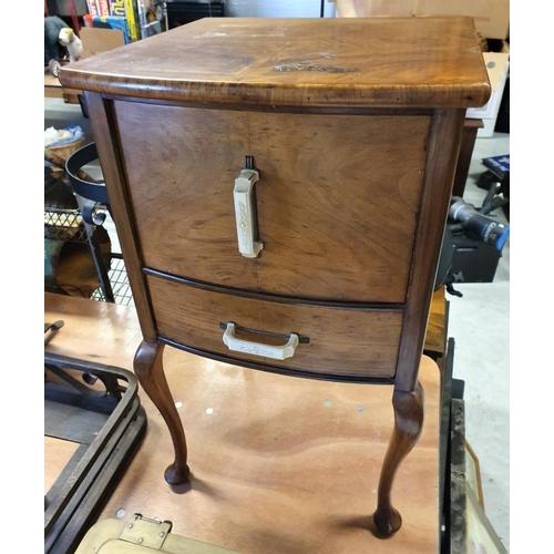90 - Neat Walnut Lady's Work Box, 16 x 26.5in...