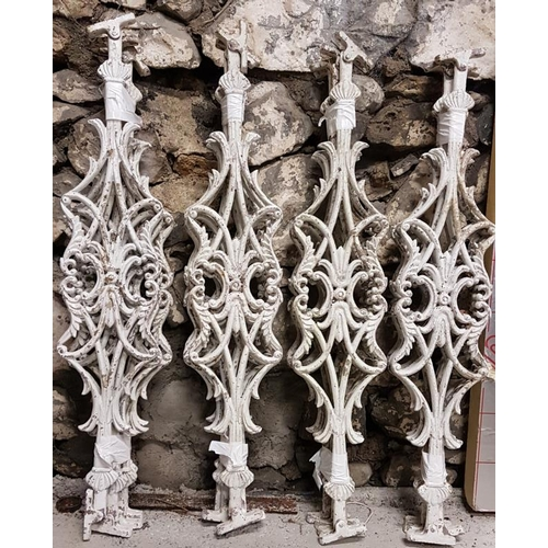 17 - Set of Cast Aluminium Stair Rails (16) - 35ins tall...