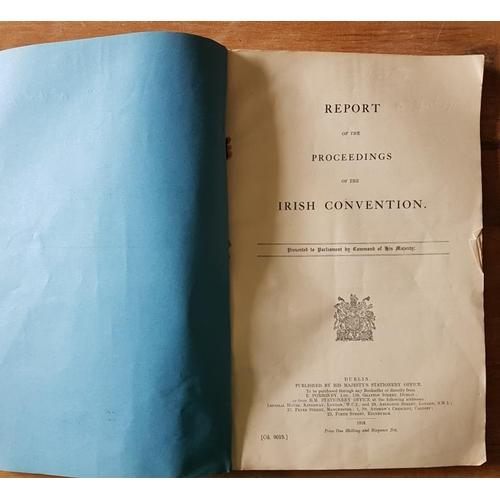 6 - HMSO '<em>Proceedings of the Irish Convention'</em> 1918...