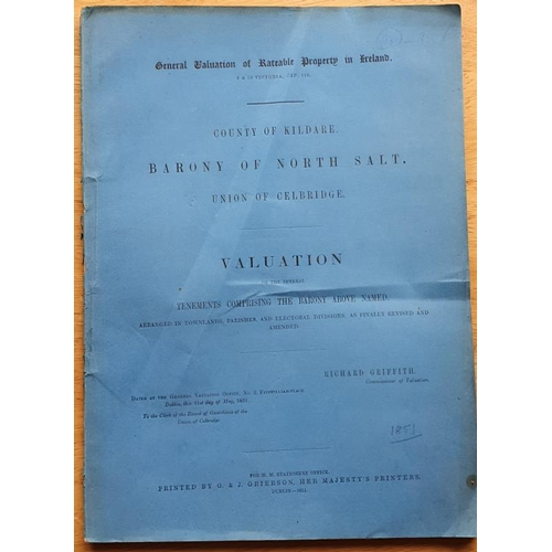 7 - <em>Griffith's Valuation</em>, County of Kildare, Barony of North Salt, Union of Celbridge...