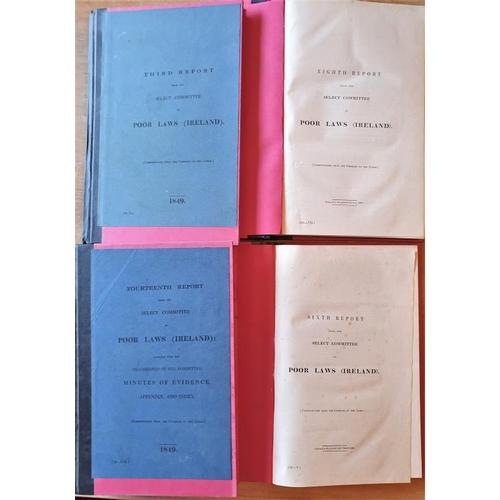 9 - <em>Poor Laws of Ireland Reports 1848-1849</em>, 4 vols, terrific Famine history resource...