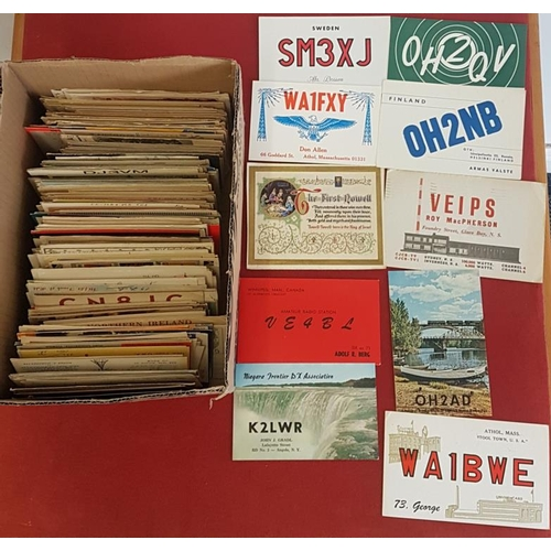 15 - <em>Irish Long Wave Radio.</em> Collection of postcards from around the world regarding reception of...
