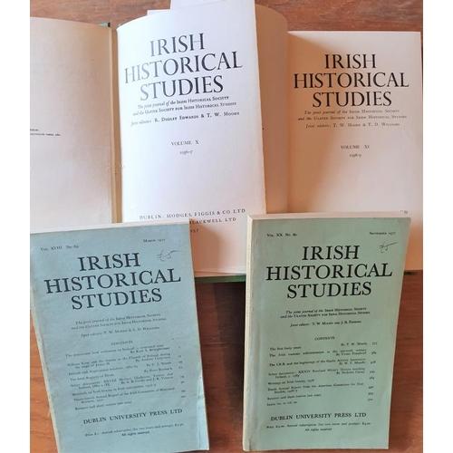 19 - <em>Irish Historical Studies</em>, 13 bound vols and c.90 loose issues...
