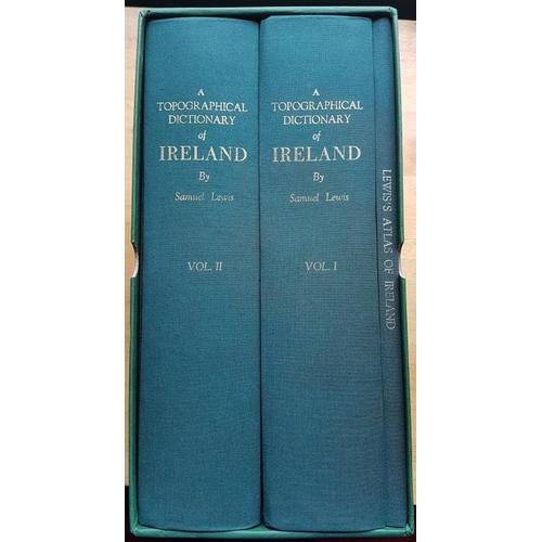 20 - <em>Lewis's Topographical Dictionary</em>, Large 4to; 2 vols plus atlas vol facsimile set in b...