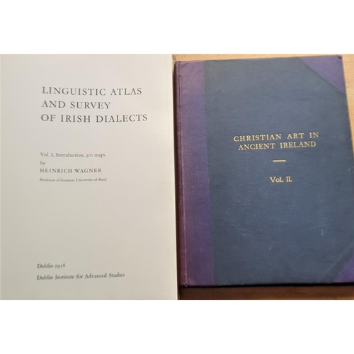 21 - O'Rafferty, Joseph '<em>Christian Art in Ireland'</em> (Vol. 2); and Wagner, Heinrich '<em>Linguisti...