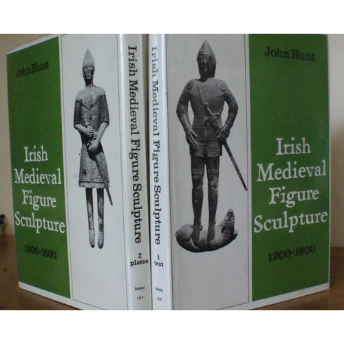 26 - <em>Irish Medieval Figure Sculpture</em> – John Hunt. (2 vols, 1974)...