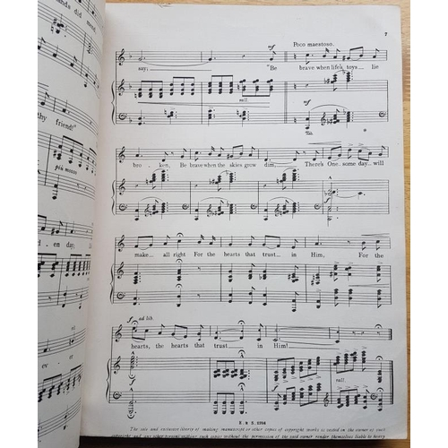 29 - <em>Music:</em> Bound collection of c22 folio-sized song sheets of music and words in the sixpenny p...