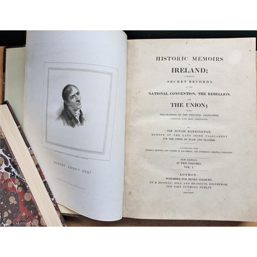 32 - Sir John Barrington <em>'Historic Memoirs of Ireland'</em>' comprising secret records of the Nationa...