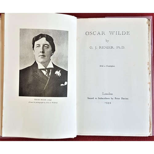45 - G. J. Renier <em>'Oscar Wilde'</em> 1933. Limited Edition. Signed by author. Original vellum style c...