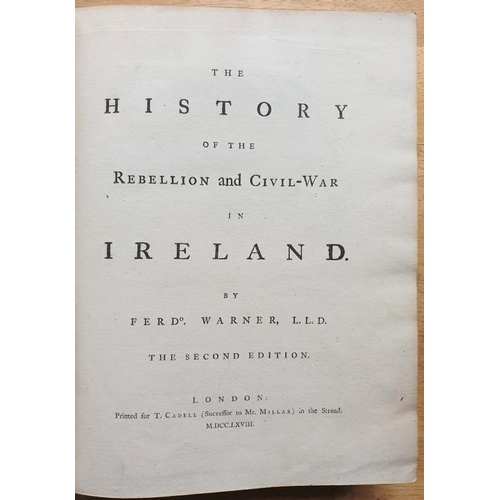 46 - Ferdo Warner '<em>The History of the Rebellion and Civil War in Ireland'</em> - 2nd Edition, London ...
