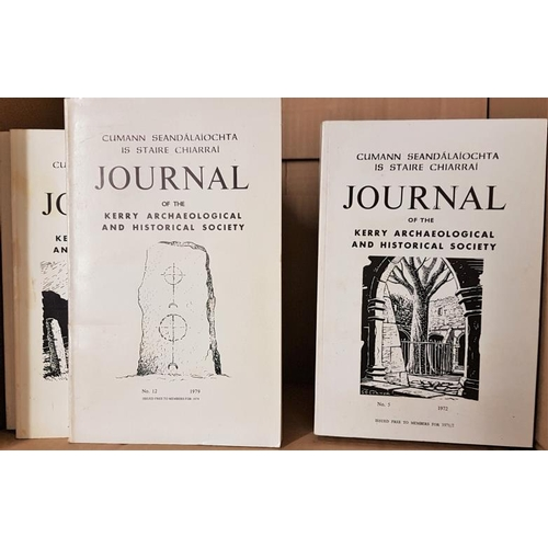 5 - <em>Journal of the Kerry Archaeological and Historical Society</em>. Thirty five volumes....