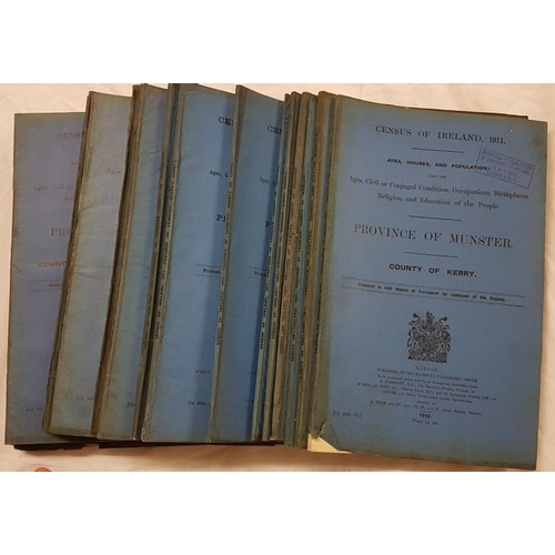 7 - <em>Census of Ireland</em>. Various counties. Blue wrappers. Twenty volumes - c. 1910...