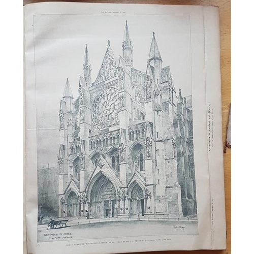11 - <em>British Cathedrals plans and ills taken from the Builder. …1891-1894</em>. Almost all major Brit...
