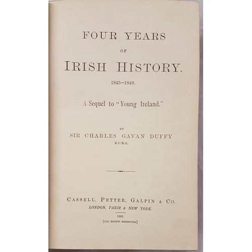 18 - Duffy, Sir Charles Gavan. <em>Four Years of Irish History</em> 1883, Half Leather...