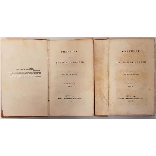 21 - <em>Cheveley; or The Man of Honour</em>. Lady Lytton Butler. Harper & Brothers. 1839. 2 volume. ...