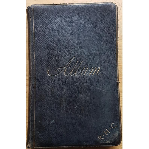 23 - Leather bound Album of illuminated <em>address and presentation to Rev Richard Henry Coote, Rector o...