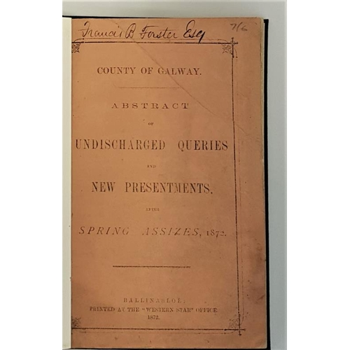 47 - [Ballinasloe Printing]County of Galway. <em>Abstract of Undischarged Queries and New Presentments af...