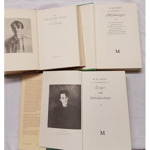 50 - Yeats, W.B. <em>Essays, Mythology and Plays</em>. Three volumes. All in dust jackets....