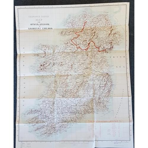 59 - <em>'Saorstat Eireann Official Hand-Book'</em> 1932. 1st Edition, Illustrated. Scarce map in pocket....